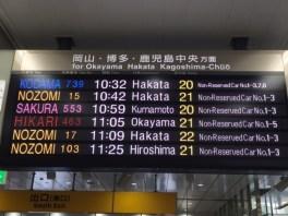 Übersichtlicher Wagenanzeiger in Tokyo, Japan