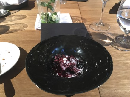 beetroot, mead, blueberries