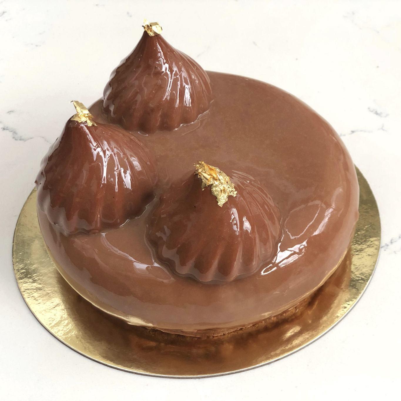 Chocolate Caramel Mousse Cake