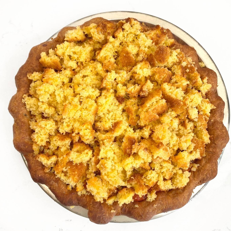 DAB Pie Night 2020 Creole Andouille Sausage, Shrimp, & Cornbread Pie