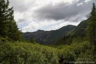 Sommets des Chics-Chocs depuis le lac des américains dans le parc de la Gaspésie