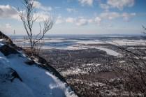 Vue en hiver depuis le sommet du mont saint-Hilaire