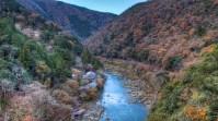 Rivière Katsura, en périphérie de Kyoto.
