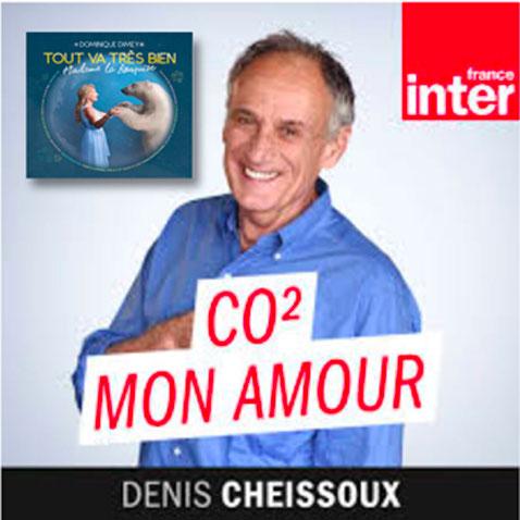 """Sur France Inter dans son émissions Co2 mon amour, Denis Cheissoux présente les chansosn du nouvel album de Dominique """"Tout va très bien madame la Banquise !"""""""