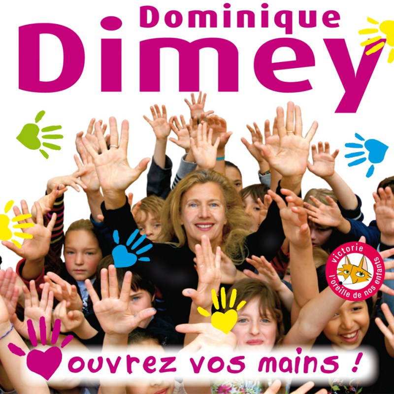 "Pochette CD de l'album ""Ouvrez os mains"" de Dominique Dimey"