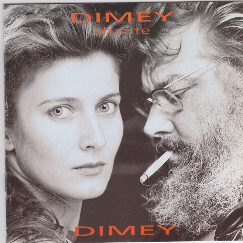 """Pochette CD de l'album """"Dimey chante Dimey"""" de Dominique Dimey"""