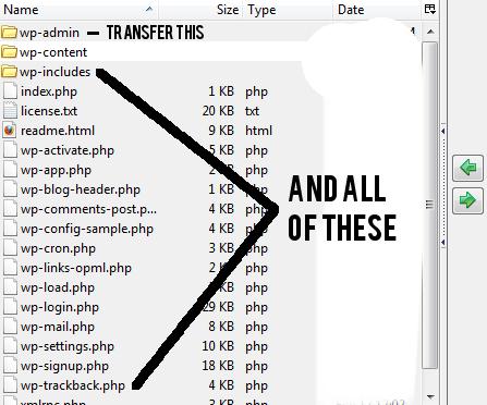 how to downgrade wordpress step 5