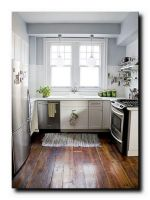 Эффектный дизайн маленькой кухни