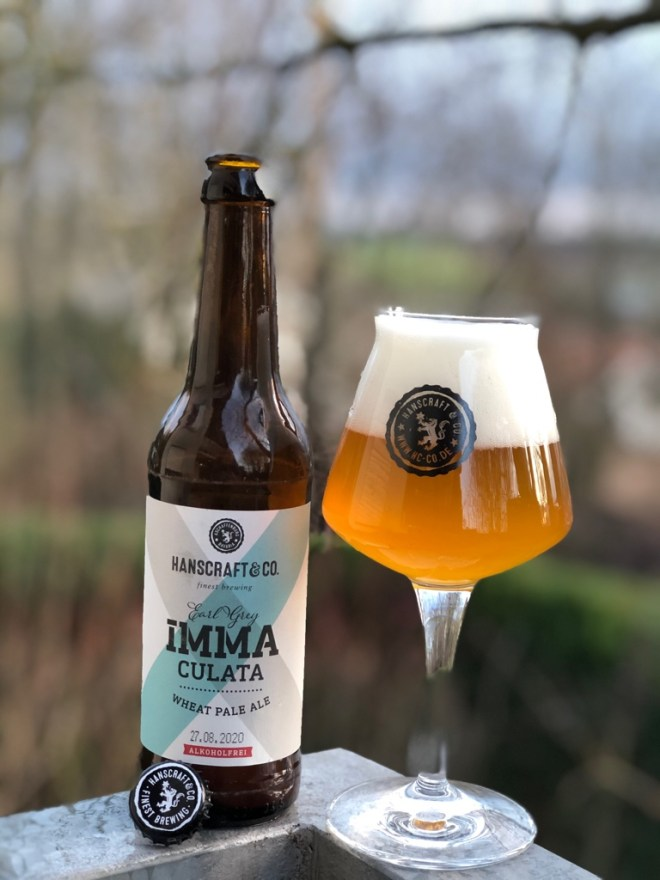 Hanscraft & Co. - Immaculata Wheat Pale Ale Alkoholfrei im Glas
