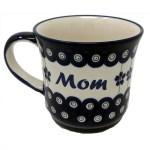 Mom Polish Pottery Mug Boleslawiec Coffee Mug 400 Ml 13 5 Oz Dom Itp Polish Seeds Polish Christmas Ornaments Electric Potato Grater And Polish Gifts