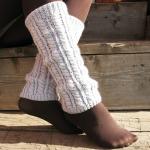 Leggings féminins blancs blancs tricotés