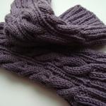 Jambières tricotées avec un dessin de tresses pour chaussettes de tous les jours