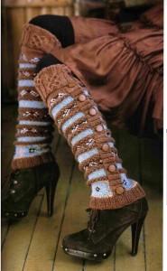Leggings pour femmes dans les boutons de style folklorique