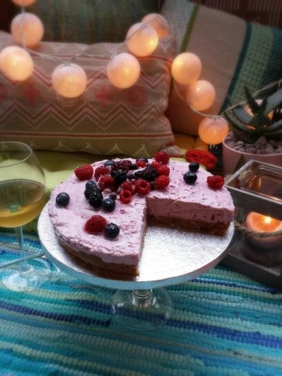Berries Raw Cheese Cake