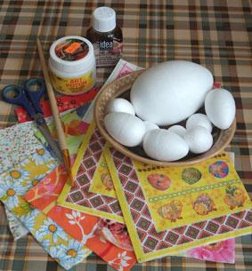 декор яиц в технике декупаж