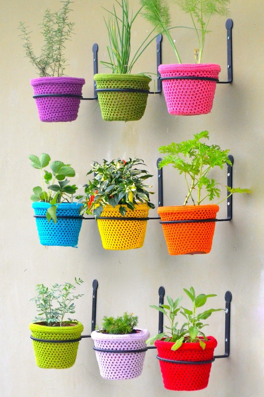 Дизайн цветочных горшков своими руками фото колонны