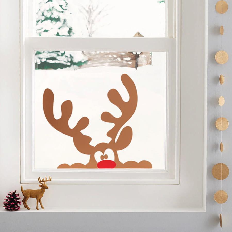 Бұғылардың иллюстрациясы - Жаңа жылдың ажырамас атрибуты, сондықтан неге оны терезеге қоймасқа