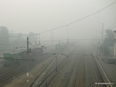 Железнодорожные пути станции Домодедово