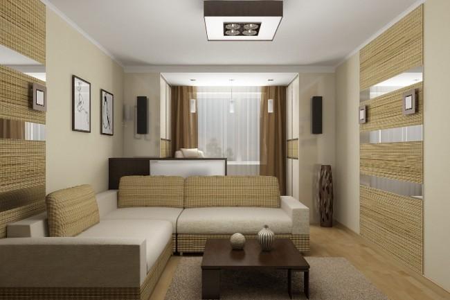 Дизайн интерьера однокомнатной квартиры: основные подходы