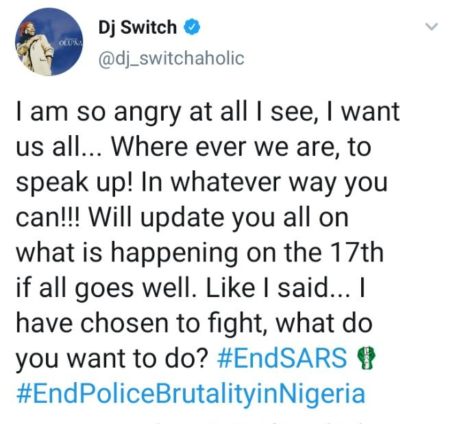 Dencia clashes with DJ Switch on Twitter