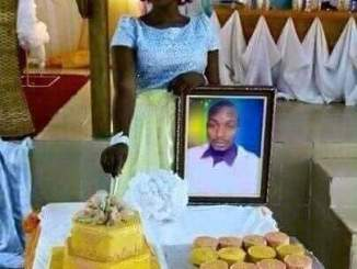 lady gets married to photo of her lover in holy matrimony