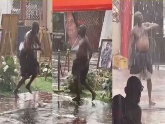 Watch How A Powerful Ghanaian Man Commanded The Rain To Stop During A Funeral (VIDEO)