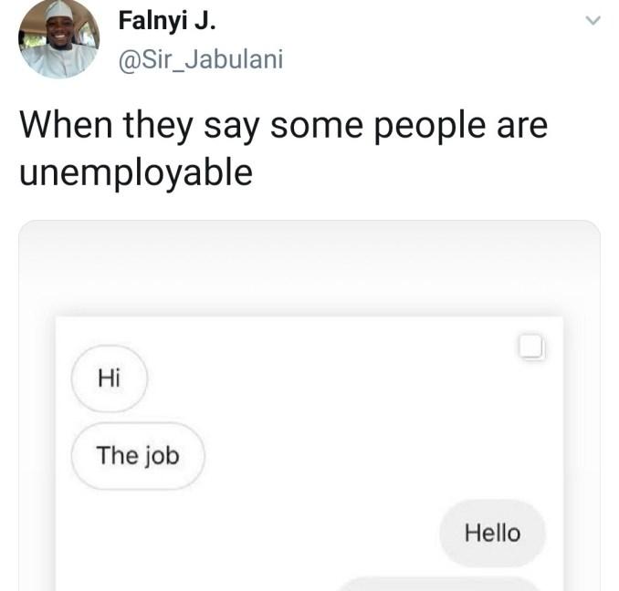 Man shares conversation with a rude jobseeker