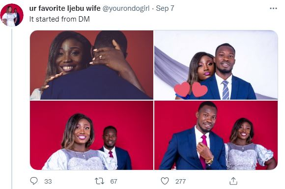 """""""It all started from a DM"""" – Lady says as she set to tie the knot with man she met on Twitter"""