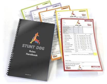 Stunt dog rule book pack