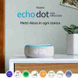 Echo Dot orologio
