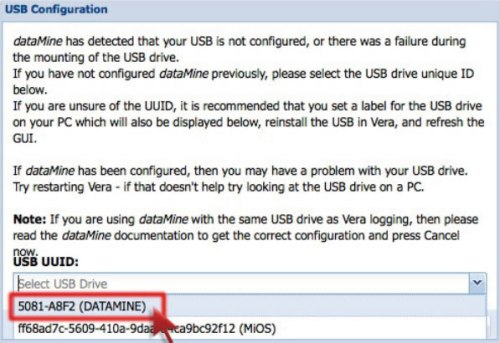 Configurar dispositivo USB