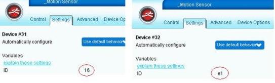 Configuración dispositivos