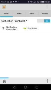 Aperçu PushBullet