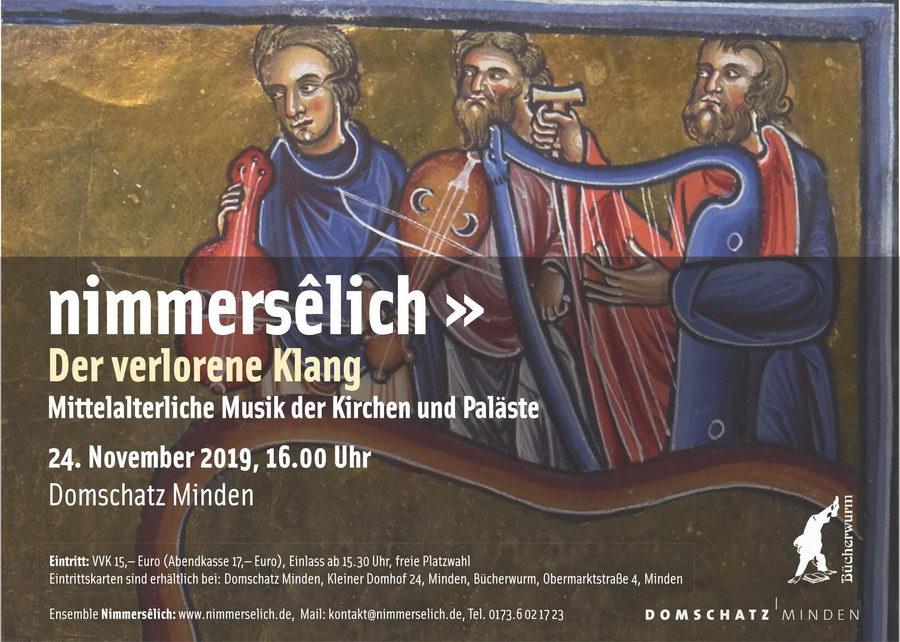 Das Leipziger Mittelalter-Ensemble Nimmersêlich gastiert im Domschatz Minden. Foto: pr