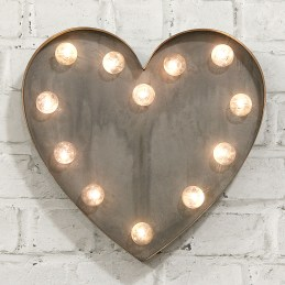 Heart shaped light