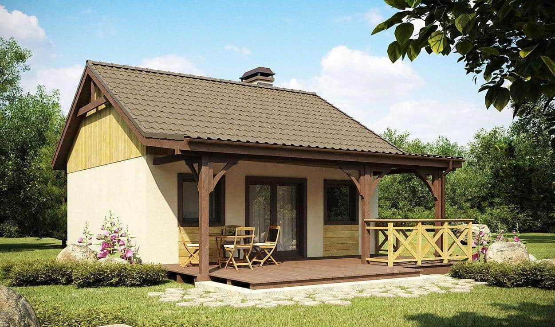 Une terrasse ouverte attachée à la maison augmentera considérablement sa zone utile.