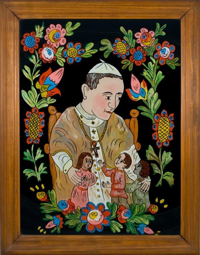 Obraz malowany na szkle - Jan Paweł II