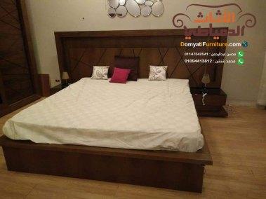 غرفة-نوم-مودرن-غامقة-سرير