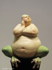 Liu Xue Sculpture Bull Frog