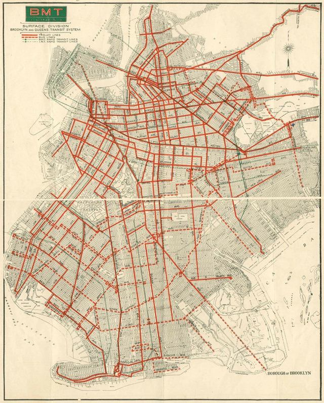 Brooklyn Trolley Map