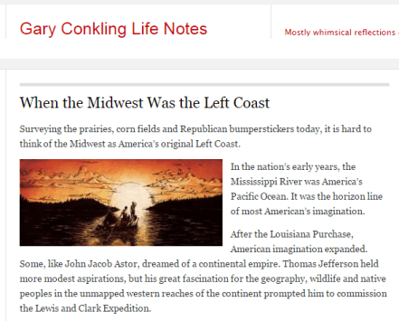 Gary Conkling Life Notes