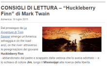 "CONSIGLI DI LETTURA – ""Huckleberry Finn"" di Mark Twain"