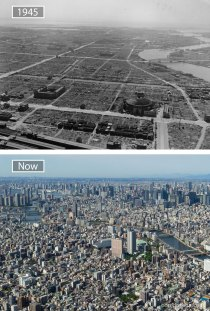 Tokyo, Japan - 1945 And Now