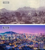 Seoul, South Korea - 1900 And Now