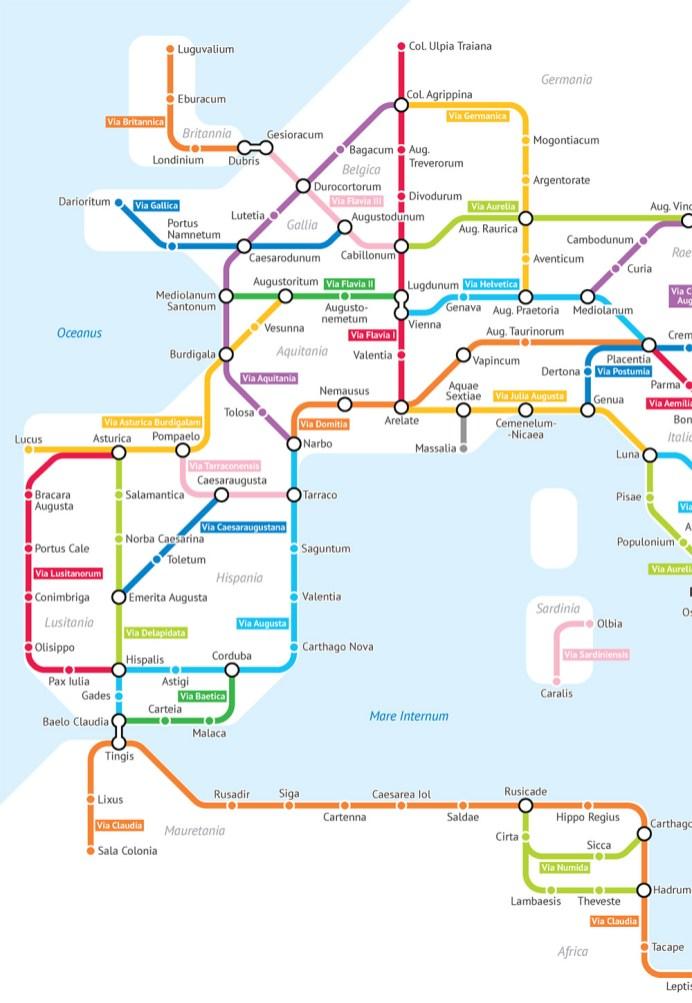 Roman Roads As A Subway Map.Subway Map Rome
