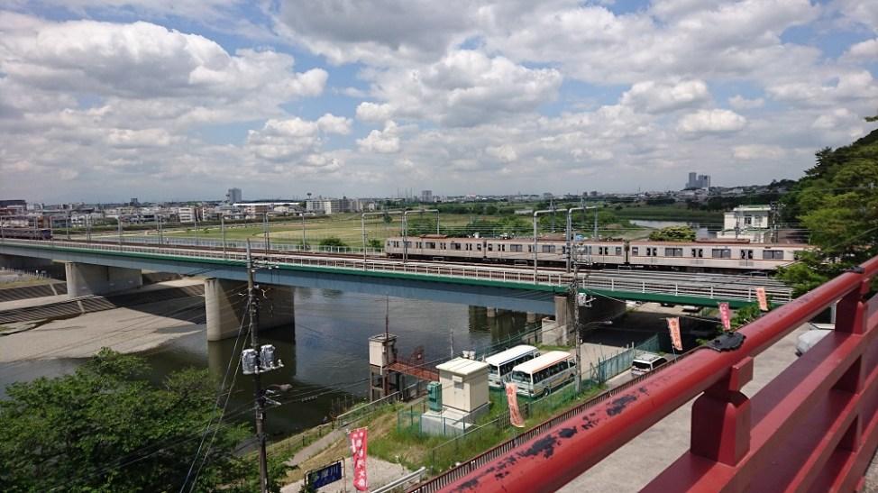 多摩川浅間神社の展望所から見る風景