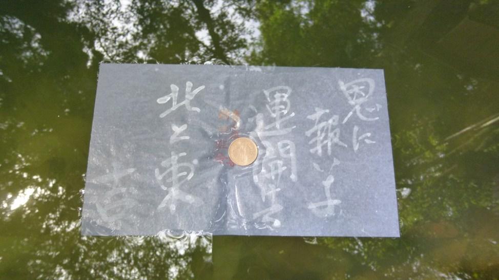 八重垣神社の鏡の池占い