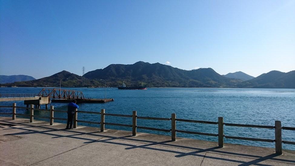 大久野島から大三島を望む