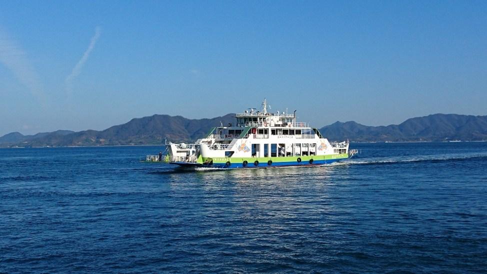 忠海港~大久野島~大三島のフェリー
