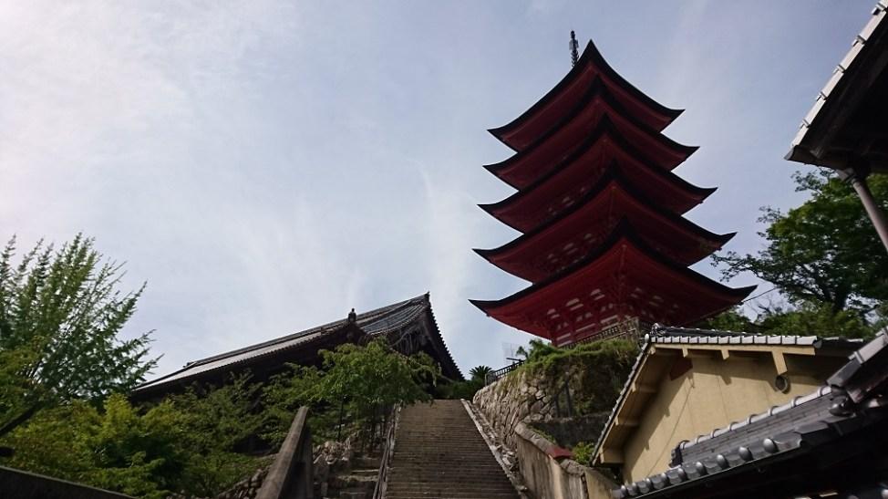 宮島の千畳閣と五重塔